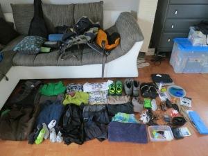 Weltreisegepäck Patrick - Packliste