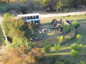 Unser Campingplatz von oben