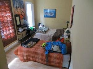 Unser Zimmer im Hostel direkt and der Long Street
