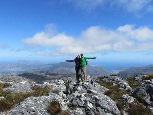 Auf dem Plateau des Table Mountain - eine herrliche Aussicht