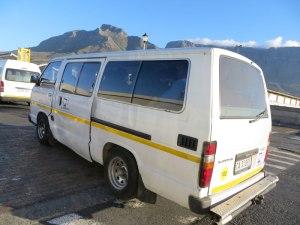 Die lokalen Busse in Kapstadt - unser hatte 846.000km auf dem Tacho